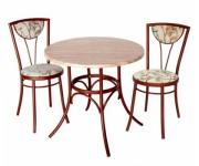 Обеденная группа - cтол Галет и стулья Буше
