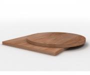 Столешницы из ДСП, фанерованные шпоном дуба (толщина 60 мм)