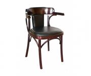 Венский деревянный стул-кресло Роза с мягкой спинкой
