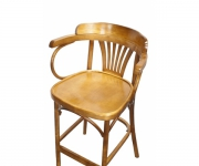 Барное деревянное венское кресло Аполло с жестким сиденьем