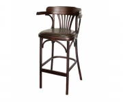 Барное деревянное венское кресло Роза с мягким сиденьем