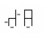 Стул Такеши с мягким сиденьем (левый / правый)