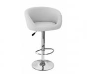 Барный стул из экокожи белый James 5002