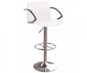 Барный стул из экокожи белый PETRA 3019