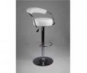 Барный стул из экокожи белый Angle 5013