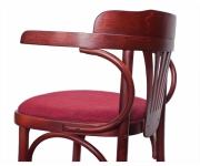 Венский деревянный стул-кресло Роза с мягким сиденьем