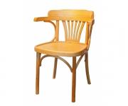 Венский деревянный стул-кресло Роза с жестким сиденьем
