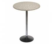 Барный стол Стив хром (круглая столешница)
