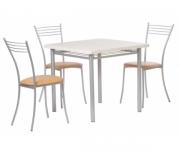 Обеденная группа - стол Алькор 3 и стулья Нео
