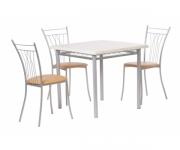 Обеденная группа - стол Алькор 5 и стулья Грета