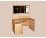 Стол однотумбовый с дверкой и панель с зеркалом