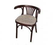 Деревянное венское кресло Марио с мягким сидением