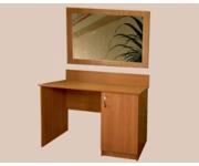 Стол с тумбой и зеркалом в раме ЛДСП