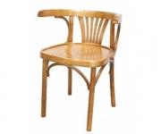 Деревянное венское кресло Марио с жестким сидением