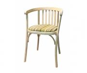 Венский деревянный стул-кресло Алекс с мягким сиденьем