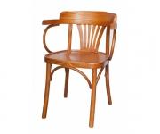 Венский деревянный стул-кресло Классик с жестким сидением