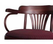 Венский деревянный стул-кресло Классик с мягким сидением