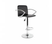 Барный стул из экокожи черный PETRA 3019