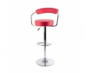Барный стул из экокожи красный Angle 5013