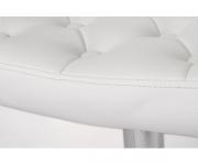 Барный стул из экокожи белый TIESTO ZC-346
