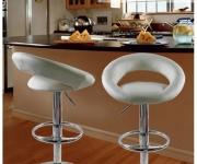 Барный стул из экокожи белый Mira 5001