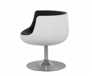 Барное кресло Cup Cognac А340-1 (белое с черным)